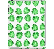 Modern green abstract leaves pattern iPad Case/Skin