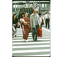 Pedestrians Crossing The Ginza. Photographic Print