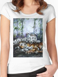 Tigers! Mother and Child Women's Fitted Scoop T-Shirt