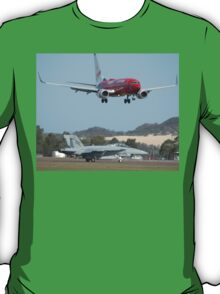 Virgin 737 & RAAF Super Hornet, Australia 2010 T-Shirt
