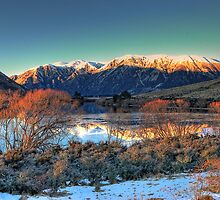 Lake Pearson - Winter dawn by Phoxford