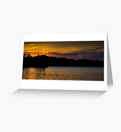 Sunset over Narrabeen Greeting Card