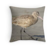 Marbled Godwit #4 Throw Pillow