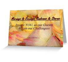 BE our GUEST! Greeting Card
