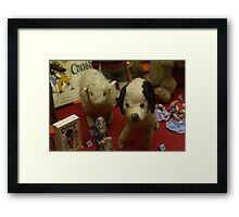 much-loved old toy animals Framed Print