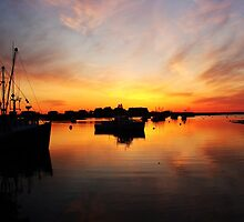 Sunrise Over Rye Harbor by George's Photography
