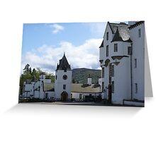 Blair Castle forecourt, Blair Atholl, Scotland Greeting Card