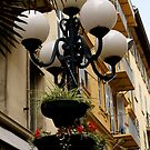 Pretty street lighting in Nice, France by BronReid