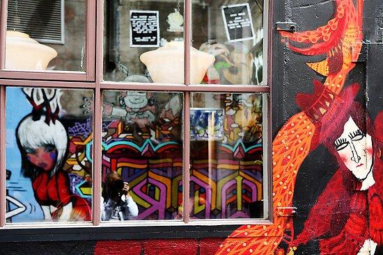 Self Portrait,Hosier Lane Melbourne by Rosina  Lamberti