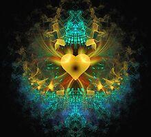 """""""A Golden Heart Can Change the World' by Scott Bricker"""