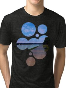 Esplanade on the banks of the river | waterscape photography Tri-blend T-Shirt