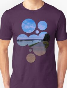 Esplanade on the banks of the river | waterscape photography T-Shirt