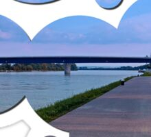 Esplanade on the banks of the river | waterscape photography Sticker