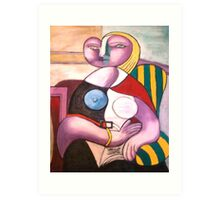 READING - PICASSO Copied by Sonya Smith Art Print