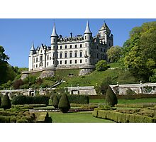 Dunrobin Castle, Scotland, from parterres below Photographic Print