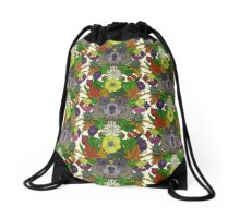 groundhog garden Drawstring Bag