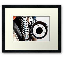 Exhaust Circle Framed Print