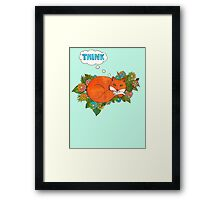 Think Outside the Fox Framed Print