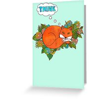 Think Outside the Fox Greeting Card