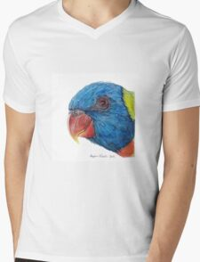 Rainbow Lorikeet Mens V-Neck T-Shirt