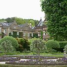Holker Hall, Cumbria, view of house across willow parterre by BronReid