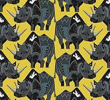 rhinoceros yellow by Sharon Turner