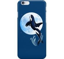Leaping Orca and Moon iPhone Case/Skin