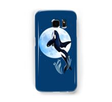 Leaping Orca and Moon Samsung Galaxy Case/Skin