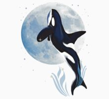 Leaping Orca and Moon Baby Tee