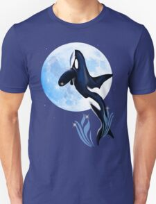 Leaping Orca and Moon T-Shirt