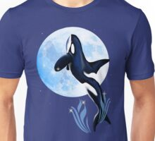 Leaping Orca and Moon Unisex T-Shirt