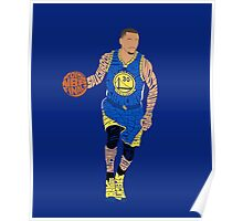 2015 NBA Finals Typography - Golden State Warriors Poster