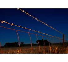 Along the Barbed Wire Photographic Print