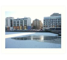 Winter Leith: Sun, Water, Ice Art Print