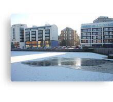 Winter Leith: Sun, Water, Ice Canvas Print