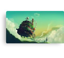 Anime floating castle Canvas Print