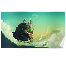Anime floating castle Poster