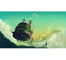 Anime floating castle Photographic Print