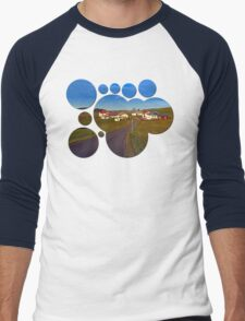 Country road, scenery and blues sky II | landscape photography Men's Baseball ¾ T-Shirt