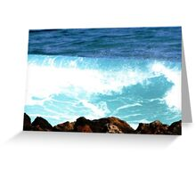 Waves of the sun Greeting Card