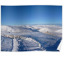 Ski Trails in Glenshee Poster