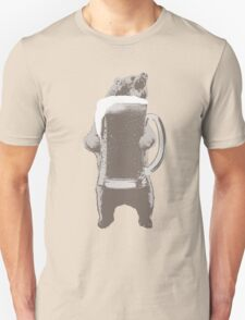 Funny Grizzly Bear & Giant Beer Unisex T-Shirt