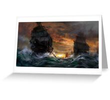 Ships drawn Greeting Card