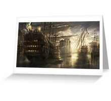 War of the ships Greeting Card