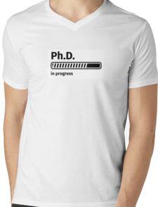 Ph.D. in progress Mens V-Neck T-Shirt