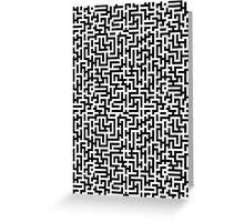 A Maze Pattern (2) Greeting Card