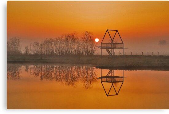 A picnic at sunrise... by Adri  Padmos