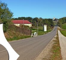 A long non-winding road | landscape photography Sticker