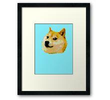 8-bit Doge Head Framed Print