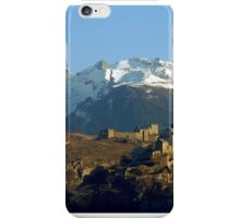 First sumbeams on Sion castle - Switzerland iPhone Case/Skin